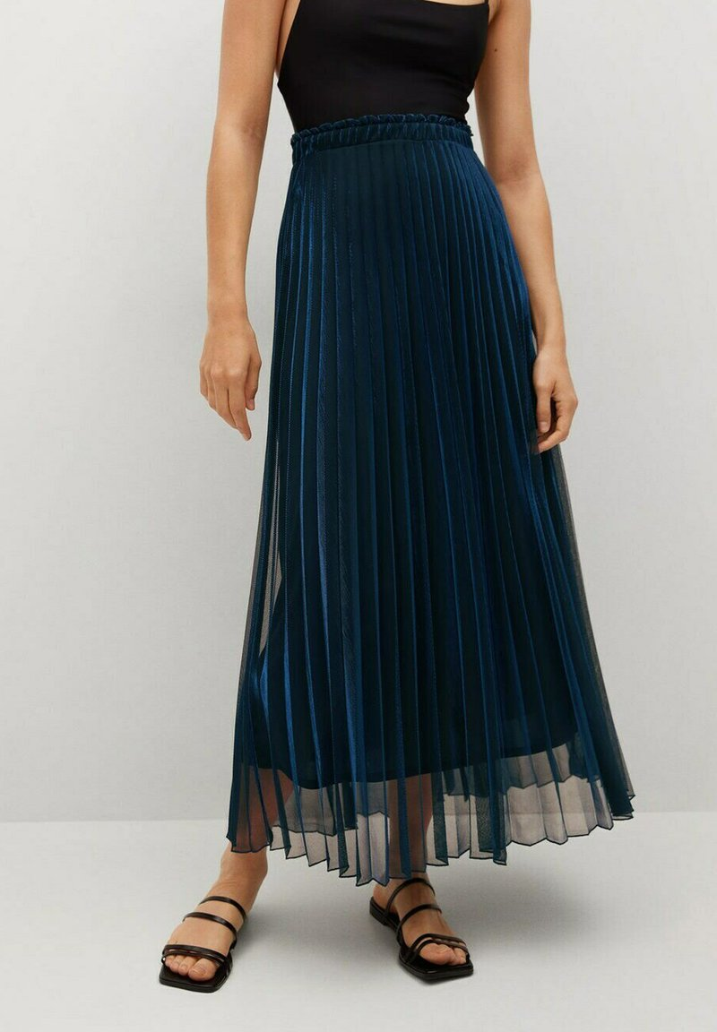 Mango - MOSQUETA-A - Pleated skirt - dunkles marineblau