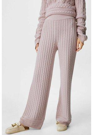 Spodnie materiałowe - pale pink