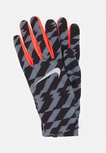 LIGHTWEIGHT TECH GLOVES - Gloves - black/bright crimson/silver
