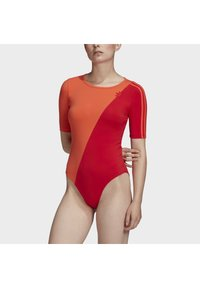 adidas Originals - ADICOLOR SLICED TREFOIL BODYSUIT - Print T-shirt - red - 3