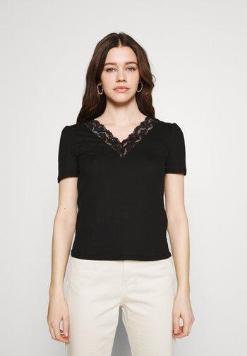 VIATHALINA V NECK  - Print T-shirt - black
