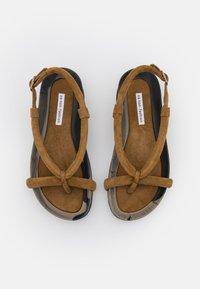 Oa non fashion - T-bar sandals - marmo fango - 5