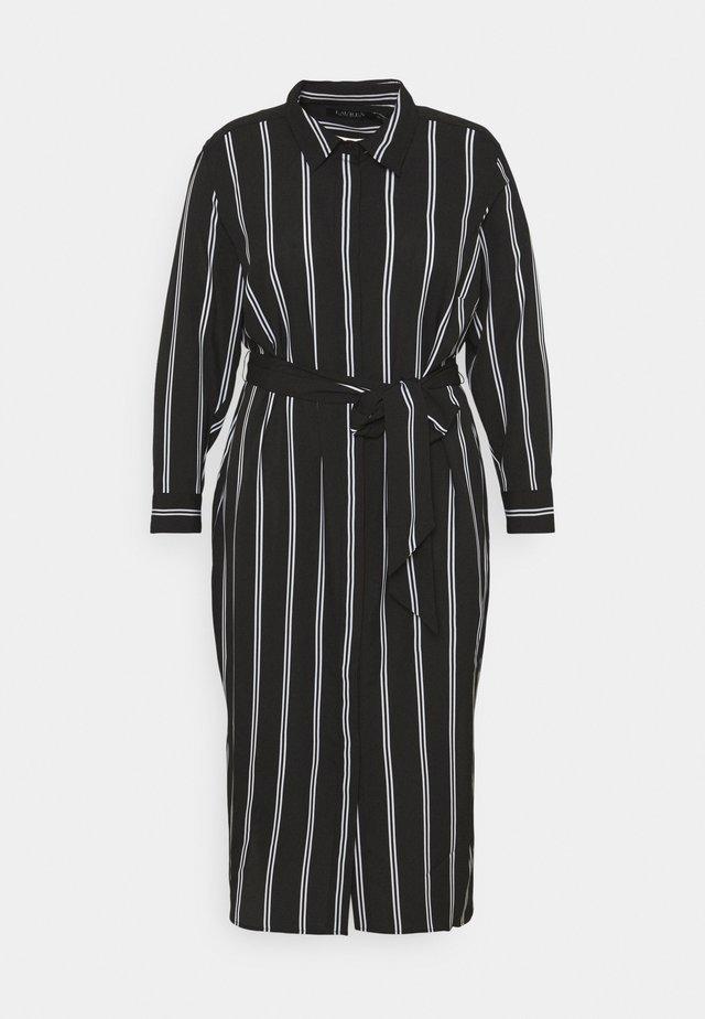 RYNETTA LONG SLEEVE CASUAL DRESS - Paitamekko - black/white