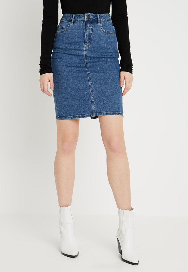 VMHOT PENCIL SKIRT  - Pencil skirt - medium blue denim