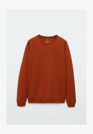 MIT RUNDAUSSCHNITT - Sweatshirt - coral