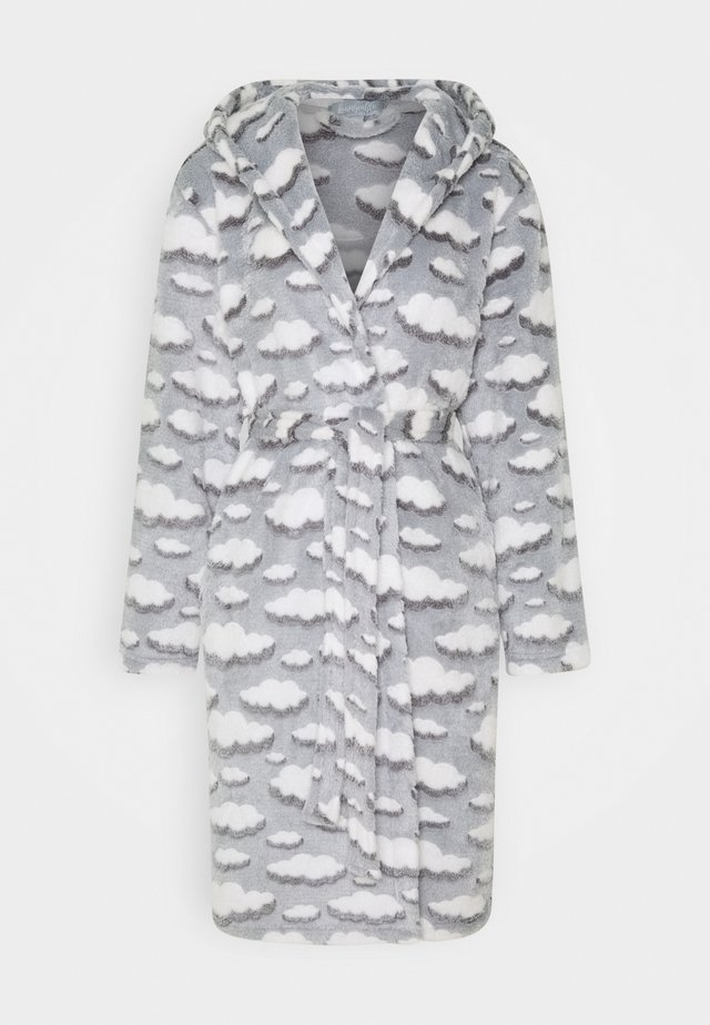 CLOUD SHERPA HOODED ROBE - Dressing gown - grey