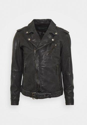 UNISEX COLTRANE - Leather jacket - black