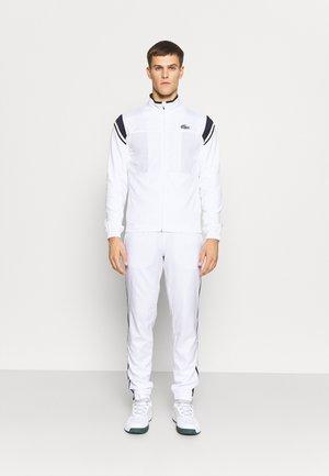 TRACKSUIT - Träningsset - blanc / bleu marine