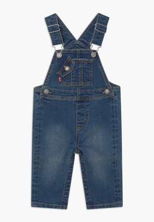 LOGO TAPE OVERALLS - Lacláče - blue denim