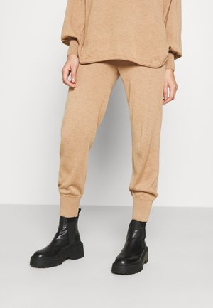 YASRONJA - Tracksuit bottoms - tawny brown melange
