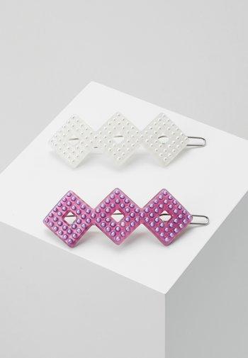 HARPER CLIPS 2 PACK - Haaraccessoire - pink/white