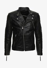 CRUISER - Leather jacket - black