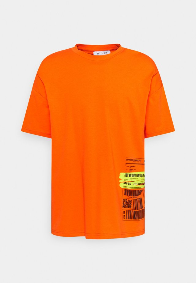 WAY BILL OVERSIZED  - T-shirts - orange