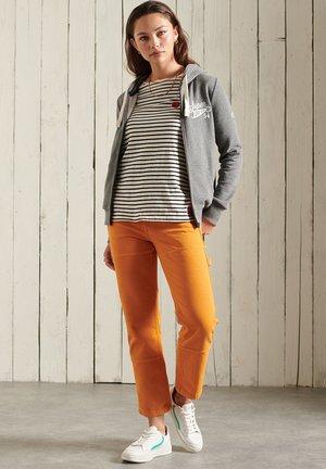 COLLEGIATE - Zip-up sweatshirt - dark marl