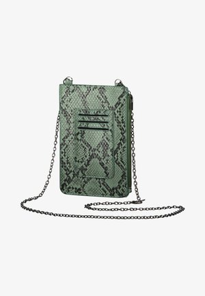 Across body bag - grün/schwarz