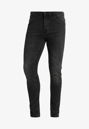 ONSLOOM BLACK WASHED - Tapered-Farkut - black denim