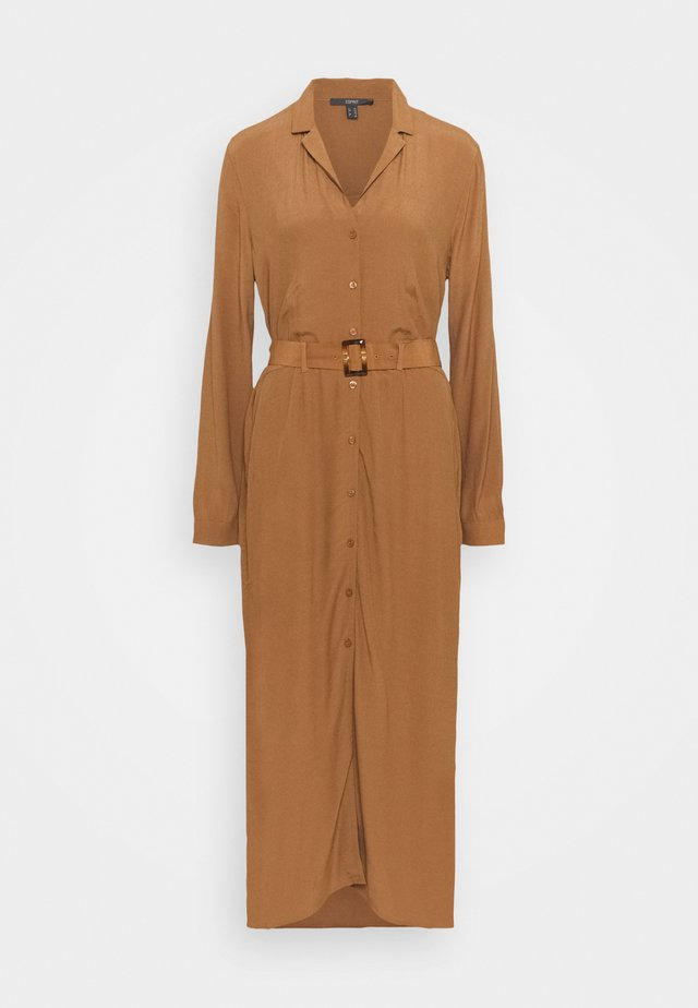 DRESS - Shirt dress - toffee