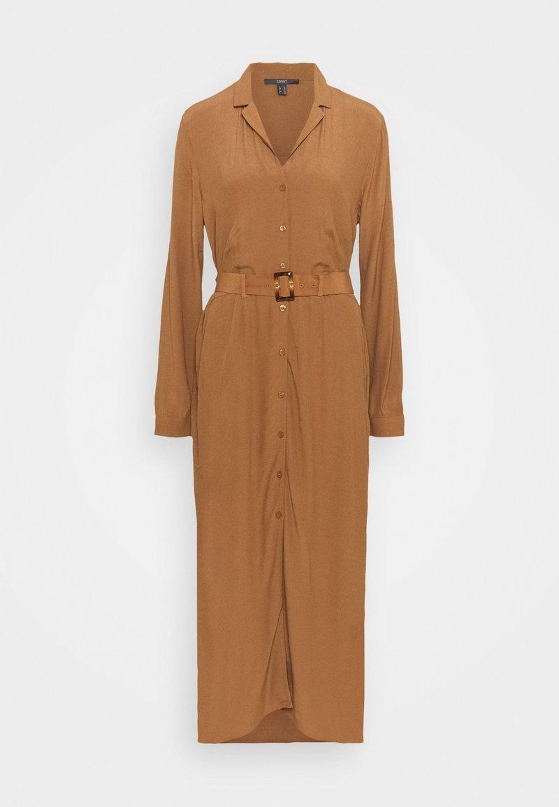 Esprit Collection - DRESS - Shirt dress - toffee