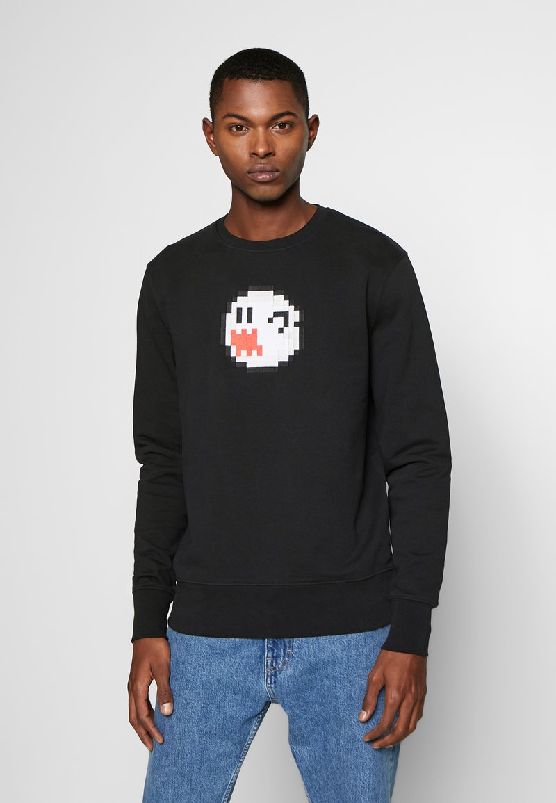 Bricktown - BOO GHOST BIG - Sweater - black