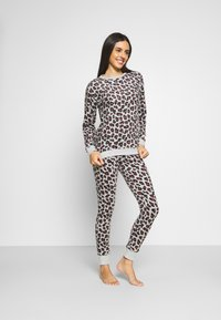 Hunkemöller - LEGGING LEOPARD - Pyjama bottoms - grey - 1