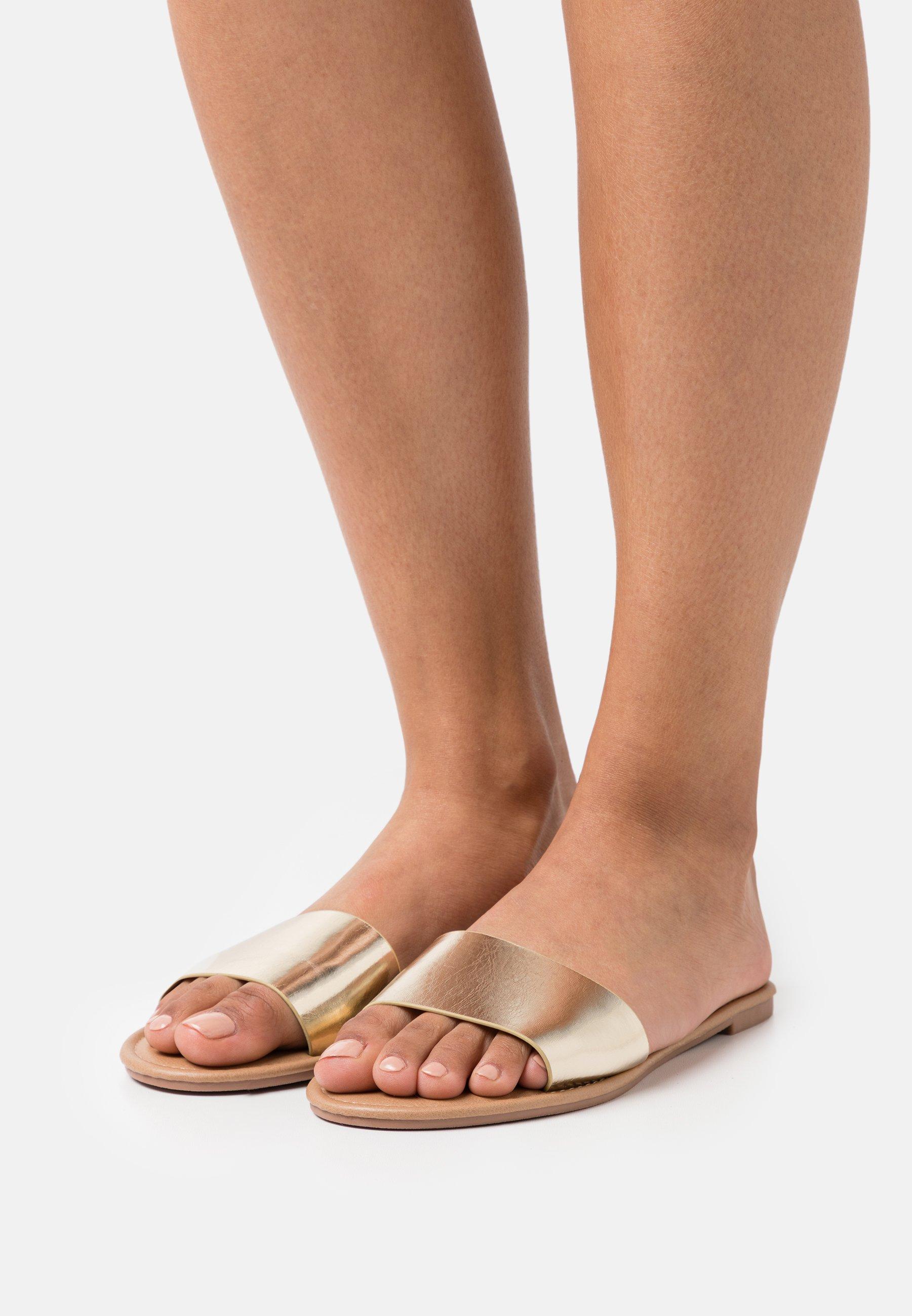 Damen EVERYDAY ZAHRA SLIDE - Pantolette flach - gold