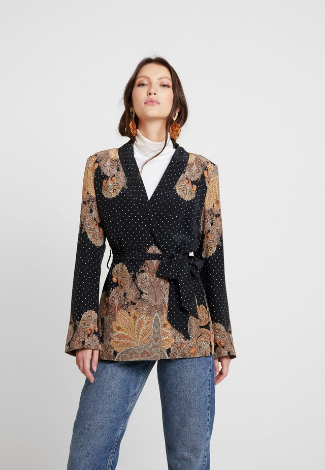 MAGIC WRAP JACKET - Veste légère - black/arabian nights