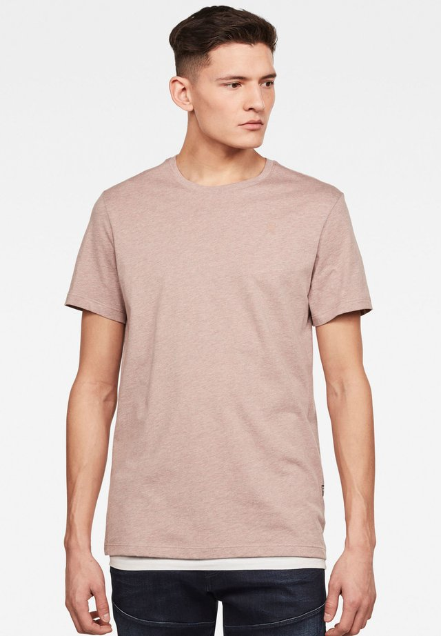 BASE-S - Basic T-shirt - chocolate berry