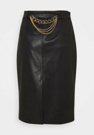GONNA LONGUETTE - Pencil skirt - nero