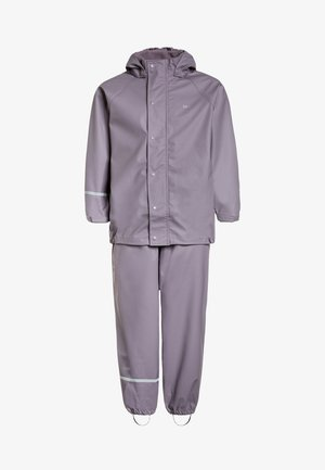 RAINWEAR SUIT BASIC SET WITH FLEECE LINING - Rain trousers - nivana