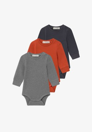 MILAN BABY 3 PACK - Body - chili / navy / grey melange