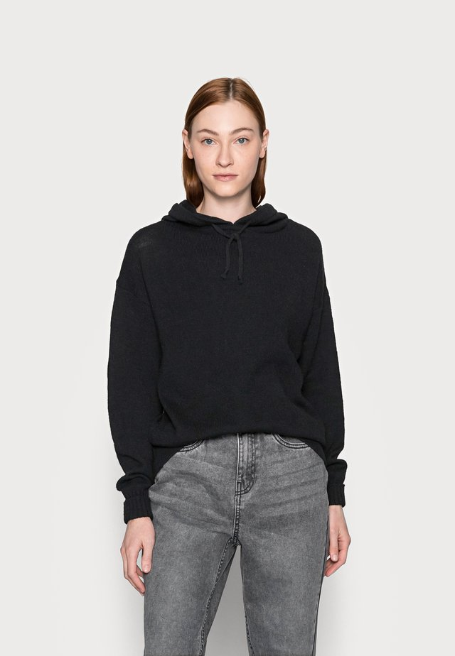 POCKET HOODY - Sweat à capuche - black