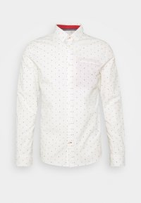 FITTED PRINTED GEOMETRIC - Shirt - offwhite/navy