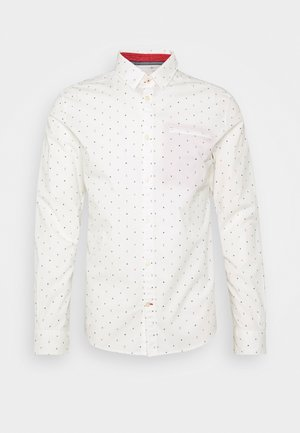 FITTED PRINTED GEOMETRIC - Camisa - offwhite/navy