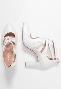 Tamaris Heart & Sole - SLIP-ON - Klasické lodičky - white pearl - 3