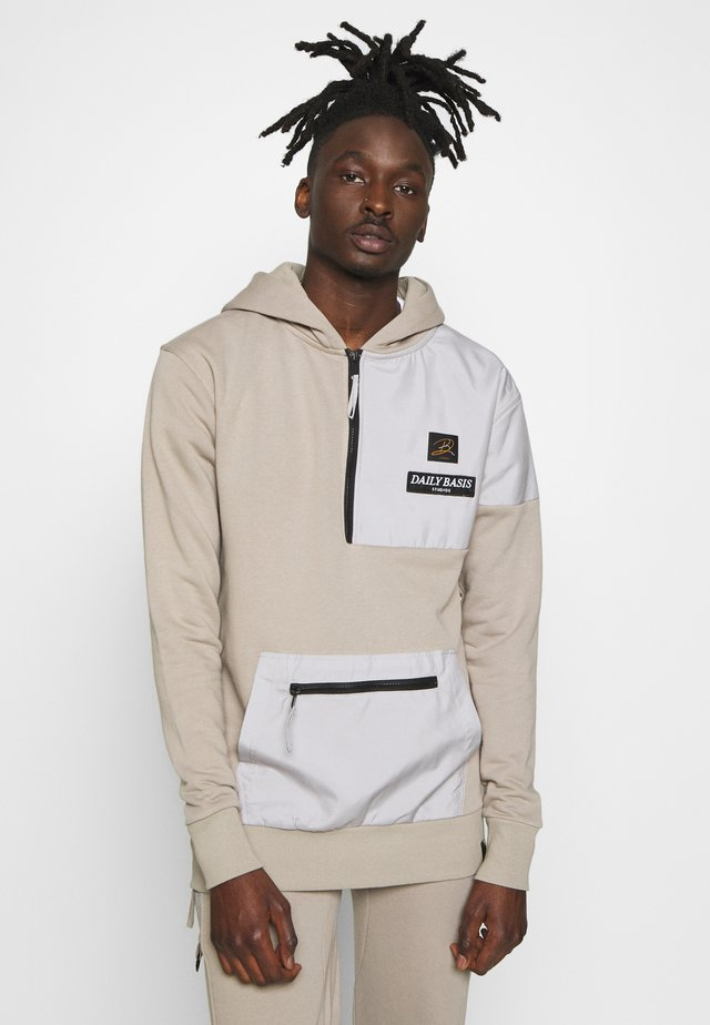DAILY BASIS FUNNEL NECK HOODIE - Hoodie - taupe