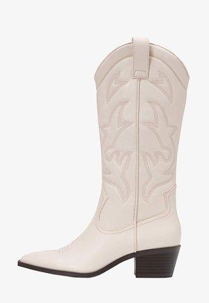 Cowboy/Biker boots - off-white