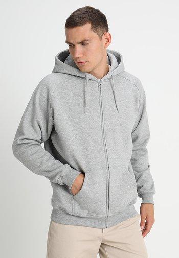 ZIP HOODY - Huvtröja med dragkedja - grey
