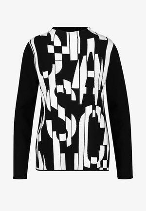 TURTLE - Sweatshirt - schwarz/ecru/weiss gemustert