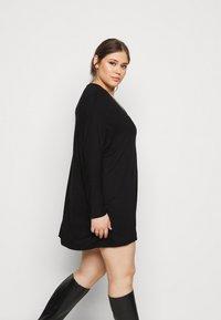 New Look Curves - BATWING MINI - Shift dress - black - 3