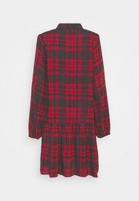 Anna Field - Oversized - Shirt dress - red/black - 1