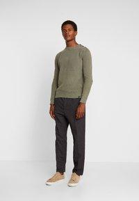 Sisley - Trousers - mottled dark grey - 1