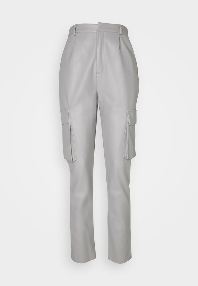 POCKET TAPERED TROUSER - Pantalon cargo - charcoal