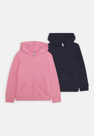 GIRLS  BASIC 2 PACK - Sudadera con cremallera - pink/dark blue