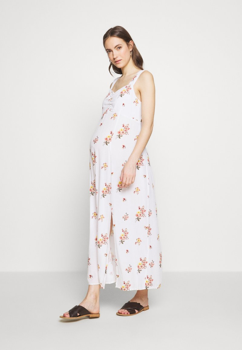 Dorothy Perkins Maternity - CAMI FLORAL CRINKLE DRESS - Maxi dress - ivory