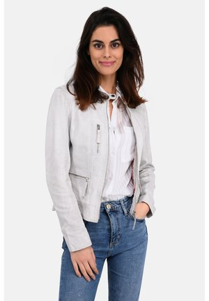 EACH - Leather jacket - white