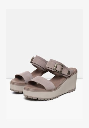 KORALYN BAND WEDGE - Sandaler - taupe brown