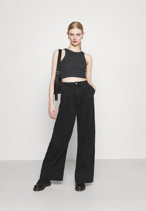 STELLA CROP 2 PACK - Toppe - off black/yellow