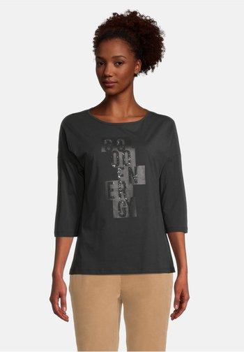 Print T-shirt - schwarz/schwarz
