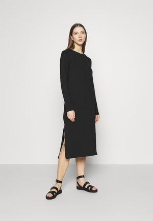 ISA DRESS - Jersey dress - black