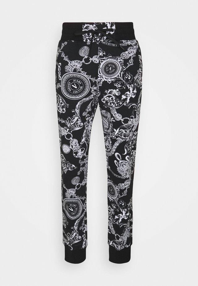 BRUSHED PRINT REGALIA BAROQUE - Pantalon de survêtement - nero